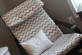 diy chevron poang chair cover via homemadeengineer