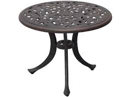 darlee outdoor living series 80 cast aluminum antique bronze 21 round end table