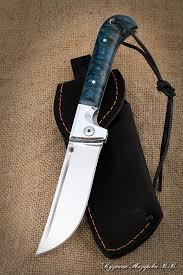 <b>Нож складной</b> Пчак сталь Х12МФ накладки карельская береза ...
