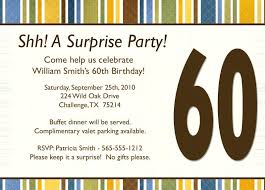 Surprise Birthday Invitation Card Template Free Download Awe