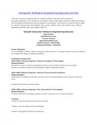 Mesmerizing Resume Software Engineer Fresher With Objective In For