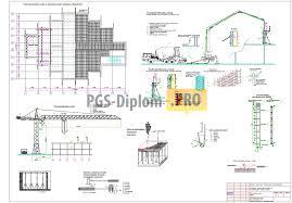 ТСП ППР на возведение монолитных конструкций типового этажа  1 курсовая работа по тсп