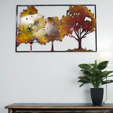 new autumn leaves metal wall decor modern ideas metal holiday tin solr wall decoration