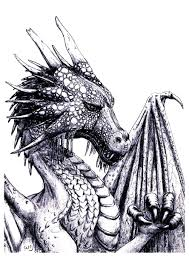Free Coloring Page Coloring Adult Dragon An Impressive Dragon To
