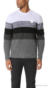 programmable kenzo mens grey l wool mohair striped pullover clothing pale
