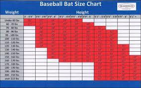 bat size chart size chart