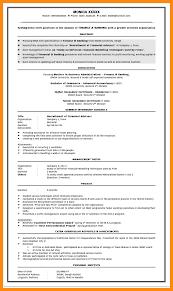cv format for bank job - Cerescoffee.co