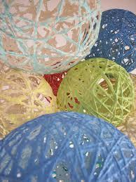 yarn lantern chandelier