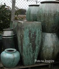 tall milan verdigris opal green glazed pot planters woodside garden centre pots to inspire