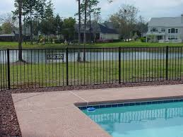 Decorative Pool Fence Specrail Residential Aluminum Fence Panels And Gates