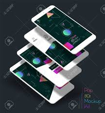 3d Trendy Mobile Smartphone Abstract ...