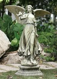angel garden. Cement Angel Garden Statues On Pedestal Statue Concrete