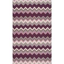 joaquin prune purple 4 ft x 6 ft flatweave area rug