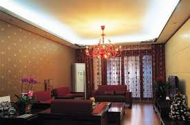 Wallpaper In Living Room Design Romantic Wallpaper Designs For Living Room With Lily Flower
