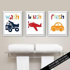 Kids Bathroom Wall Decor Transportation Bathroom Art Prints Kids Bathroom Art Kids