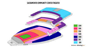 Bonney Field Sacramento Seating Chart Sacramento Community Center Theater Seating Chart