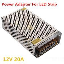 led lighting power supply 12v 20a led driver for strip light 240w power adapter 10pcs