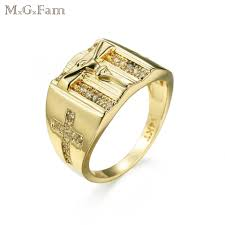 2019 mgfam cross rings for men 14 k light gold color aaa cubic zircon religious jewelry 6 7 8 9 10 us from w245 20 39 dhgate