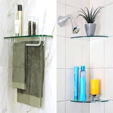 glass bathroom shelves floating for corners shower shelf white