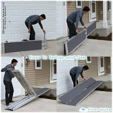 how to build a temporary wheelchair ramp over stairs silver spring aluminum multi fold lb how to build a temporary wheelchair ramp over stairs