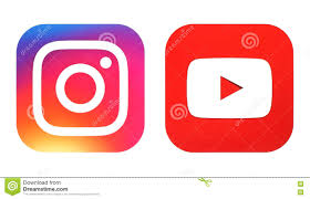 Youtube Icon Download Instagram New Logo And Youtube Icon Printed On White Paper Editorial