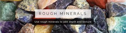 rough minerals for mosaic