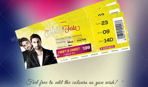 free ticket design template free download event tickets template psd designbeep design event