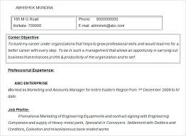 Marketing Objective Resume Resume Objectives Free Sample Example