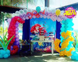 Disney Theme Decorations The Little Mermaid Party Decorations Decoracin Con Globos La