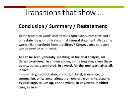tips for writing the transitional sentences for essays transitional words and phrases transitional words and phrases show the relationship between ideas transitions are used to link ideas in a sentence