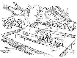 Bible Coloring Pages Building The Tabernacle