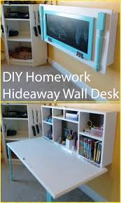 diy wall mounted desk free plans instructions