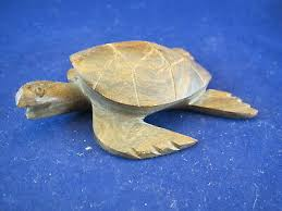 hand carved wooden sea turtle figurine sculpture figurine caribbean islands