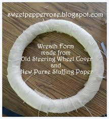 Wreath Base Form made from Old Steering Wheel Cover
