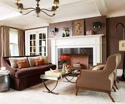 work with your existing brown sofa instead of against it by painting the walls a similar hue use the power of contrast to create high impact between light