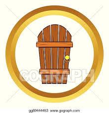 wooden door clipart. Perfect Door Old Arched Wooden Door Vector Icon Cartoon Style Throughout Wooden Door Clipart E
