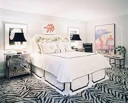 contemporary Hollywood regency bedroom