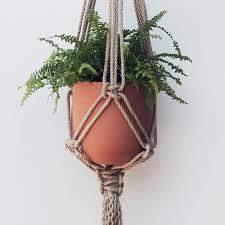 Macrame Flat Knot Jute Pot - holder