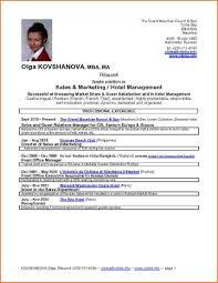 Cv Format For Hotel Industry 8 Handtohand Investment Ltd