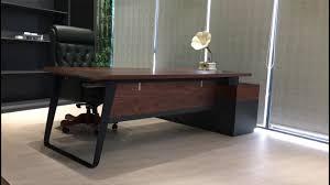 hi end furniture. High End Furniture Walnut Kayu Solid Meja Bos Kantor MDF Hi