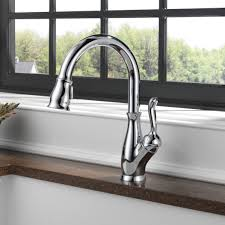 Most Reliable Kitchen Faucets Delta Leland Single Handle Pull Down Standard Kitchen Faucet