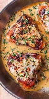 Easy lemon garlic lamb chops are quick to cook and perfectly juicy. Pan Fried Lamb Chops With Mustard Thyme Sauce Mediterranean Healthy Main Maindish Glutenfree Lamb Steak Recipes Lamb Chop Recipes Healthy Lamb Recipes