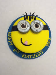 Small Minion Face Cake Boys Birthday Cakes Celebration Cakes