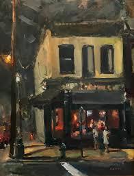 night cafe the hill cafe in church hill richmond va oil 24 h x 18 w 2017 jill banks