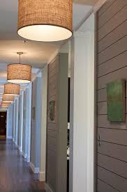 lighting hallway. drum pendants in hallway lighting a