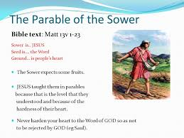 the parable of sower. Modren Parable The Parable Of The Sower On Of