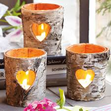 40 Very Clever DIY Candle Holder Projects For Your House home designing  birch bark crafts and decorating ideas with rustic flair furniture photo  diy candle ...