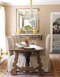 love this table and that rug dining room chair slipcovers