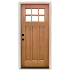 white craftsman front door. Craftsman 6 Lite Stained Mahogany Wood White Front Door
