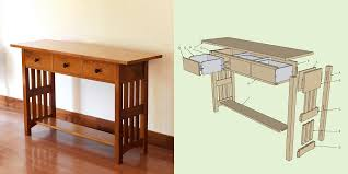 project plans arts and crafts style tv